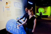 Visitors explore Genome