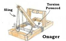 Onager catapult