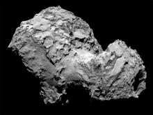 Comet 67P as seen from the ESA Rosetta spacecraft