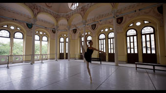 Patricia Torres practices ballet at the Cuban National Ballet School in Havana.