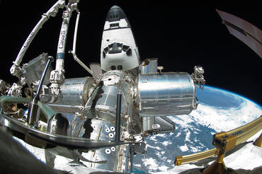 Space Shuttle Endeavour docked with ISS