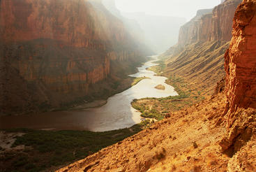 The Colorado River carves out the Grand Canyon in Arizona.  Courtesy of MacGillivray Freeman Films. Photographer: Barbara MacGillivray