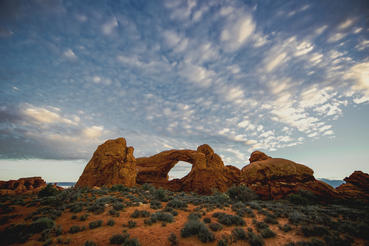 Arches National Park in Utah is home to more than 2,000 known arches.  Courtesy of MacGillivray Freeman Films. Photographer: David Fortney