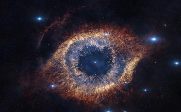 The Helix Nebula is 700 light-years away from Earth, but screened before audience's eyes in Hidden Universe.