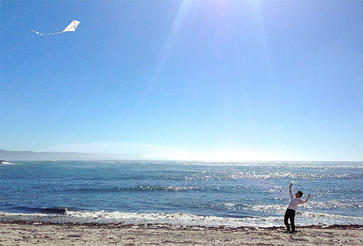 Tadashi Tokieda flying a kite by Davey Hubay