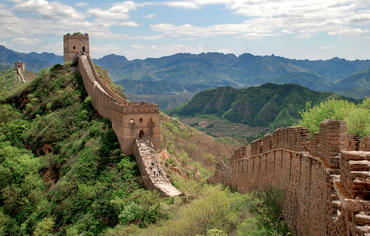 The Great Wall of China has endured for thousands of years. In Dream Big, viewers learn that in some sections of the wall, builders used sticky rice in the mortar, which enhanced its durability.  Copyright: Sophy Ru