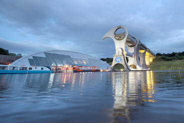Innovative engineers designed the Falkirk Wheel in Scotland, which moves boats between two different levels of canals. It is the only rotating boat lift of its kind in the world.