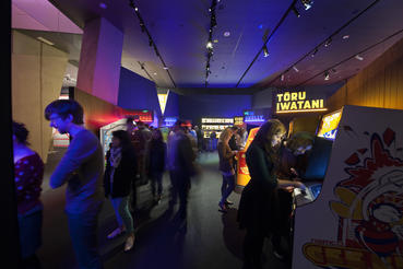 Pac-Man, Defender and other classics from the early arcade era are featured in the Arcade Heroes section of Game Masters. Photo courtesy of ACMI (Australian Centre for the Moving Image).