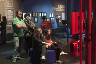 Game Masters includes games like Child of Eden, which explores how 3D technology affected game play. Photo courtesy of ACMI (Australian Centre for the Moving Image).