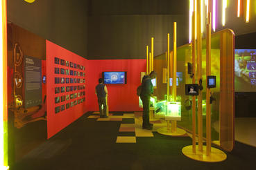 In addition to offering 100+ playable games, Game Masters explores the artwork, design and people behind our favorite video games. Photo courtesy of ACMI (Australian Centre for the Moving Image).