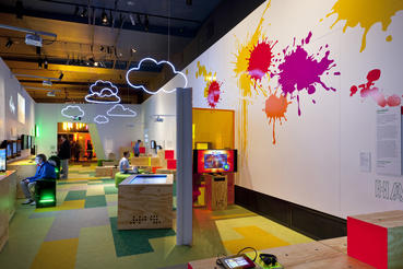 The Indies section of Game Masters explores the contributions of independently designed games, such as Fruit Ninja by Halfbrick. Photo courtesy of ACMI (Australian Centre for the Moving Image).