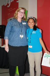 Educator Mary French and Youth Volunteer of the Year Ivana Diaz