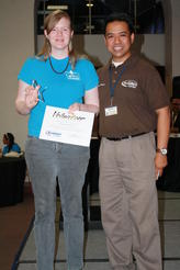 Intern of the Year Catherine Hunt & MMS' Jonathan Nagtalon