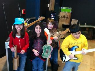 Kids in the GUITAR exhibit