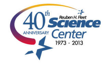 Reuben H. Fleet Science Center 40th Anniversary logo