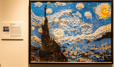 Starry Night. Photo courtesy of THE ART OF THE BRICK.