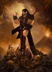 Image from Brutal Legend, courtesy of Double Fine Productions.