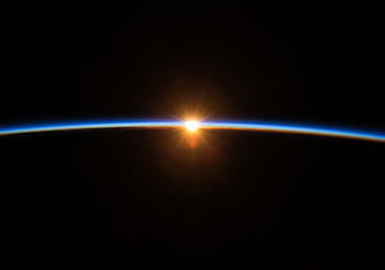 An awe-inspiring view of a sunrise from the International Space Station revealed in the new IMAX® film, A Beautiful Planet. Narrated by Jennifer Lawrence and from IMAX Entertainment and director Toni Myers, A Beautiful Planet is a stunning glimpse of Earth from space, bringing a heightened awareness of our planet—and the effects of humanity over time—as never seen before. © 2016 IMAX Corporation. Photo courtesy of NASA.