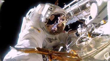 A scene from the IMAX® film A Beautiful Planet – NASA astronaut on a spacewalk to repair the exterior of the International Space Station. It's almost 300° on the sun side of the space station and -275° in the shade. © 2016 IMAX Corporation Photo courtesy of NASA From IMAX Entertainment and director Toni Myers and narrated by Jennifer Lawrence, A Beautiful Planet is a stunning glimpse of Earth from space, bringing a heightened awareness of our planet—and the effects of humanity over time—as never seen before