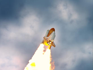 Space Shuttle Atlantis launches from Cape Canaveral on its final mission to the International Space Station.