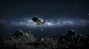 Artist's conception of  spacecraft collecting a sample from the asteroid Bennu. Credit: NASA/Goddard/University of Arizona