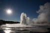The Great Fountain Geyser erupts in Yellowstone National Park, Wyoming.  Courtesy of MacGillivray Freeman Films. Photographer: Brad Ohlund